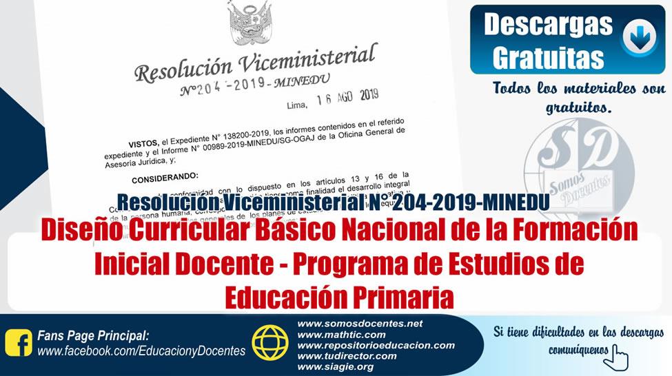 Rvm n 204 2019 minedu dise o curricular b sico nacional for Diseno curricular nacional 2016 pdf